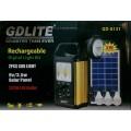 Автономная солнечная система для освещения и зарядки мобильных устройств от USB GD-8131